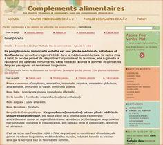 http://www.complements-alimentaires.co/gomphrena/  La gomphrena ou immortelle violette est une plante médicinale antistress et tonifiante qui connait un regain d'intérêt dans la médecine occidentale. Sa racine mise à l'état de poudre permet de rééquilibrer...