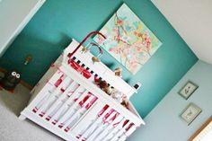 teal & red nursery decor ideas