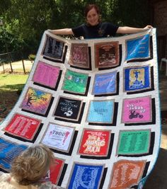 drop shadow t-shirt quilt