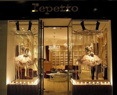 Known worldwide for its beautiful window displays, Repetto's window features two tutus.