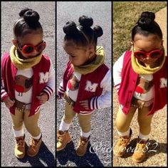 maybe 3 braids or afro puffs instead of buns Baby Girl Hairstyles, Natural Hairstyles For Kids, Black Girls Hairstyles, Toddler Hairstyles, Easy Hairstyles, Princess Hairstyles, Curly Hair Styles, Natural Hair Styles, Kid Braid Styles