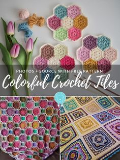 Today's theme is Colorful Crochet Tiles. We were looking for something refreshing and eye-catching and we found four projects that will surely inspire you Crochet Squares Afghan, Crochet Blocks, Afghan Crochet Patterns, Crochet Motif, Free Crochet, Granny Squares, Crochet Afghans, Crochet Style, Crochet Granny