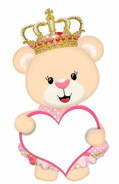 Ursinha Princesa com Coração