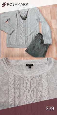 Talbots sweater Viscose/cotton/nylon/angora blend cable knit sweater. No stains, snags, or pilling. Great condition 😊 Talbots Sweaters Crew & Scoop Necks
