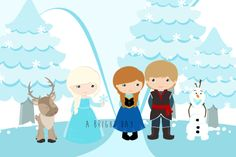 FROZEN SCENE print {download}  perfect for party decorations