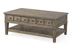 Riverbank Casual Wood Coffee Table Set