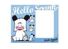 HELLO SPANK PORTA FOTO VETRO FIGURINE  Porta foto Hello Spank in vetro di colore azzurro con stampa di Spank nelle sue espressioni piu' famose.
