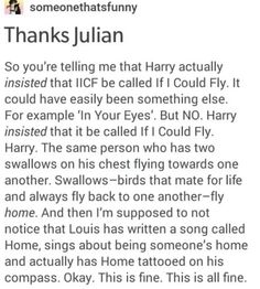 """About the MITAM song """"If I Could Fly"""""""