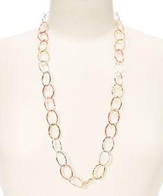 Rose Gold & Silver Link Necklace