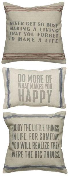 Good Advice // Throw Pillows ♥