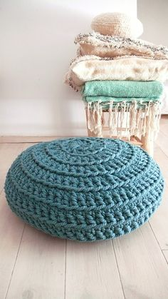 Giant Floor Cushion Crochet por lacasadecoto en Etsy