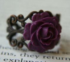 gothic flower ring