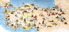 The top five destinations in Turkey. Istanbul, Mediterranean & Aegean Coast, Cappadocia & The Black Sea Coast. Pamukkale, Turkey Tourism, Turkey Travel, Visit Turkey, Tourist Map, Marmaris, Day Tours, World Heritage Sites, Google Search