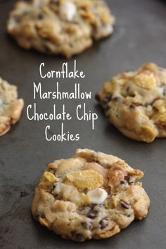 Cornflake marshmallow chocolate chip cookie recipe! These cookies are insanely delicious and easy to make! CatchMyParty.com