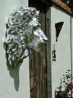 Plated Silver Effect Lion Head Wall Hanging | eBay