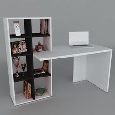 New home office pequeno cama 46 ideas Modern Office Desk, Office Table, Home Office, Bureau Design, Bookshelves, Bookcase, Home Furniture, Furniture Design, Minimalist Desk
