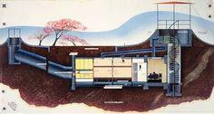 "Paul László (1900-1993) | Popular Mechanics, October 1954 | ""Atomville: At Home, 2004 A. D."""