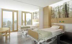 602-Jan Portaels Hospital - SAMYN AND PARTNERS Interior Work, Room Interior, Interior Design, Clinic Design, Healthcare Design, Pb Teen Bedding, Ward Room, Hospital Room, City Hospital