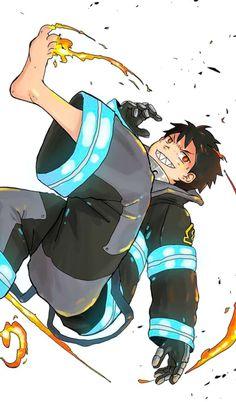 Manga Anime, Anime Guys, Gamers Anime, One Punch Man, Shinra Kusakabe, Flame Art, Naruto Cute, Ninja, Anime Kawaii