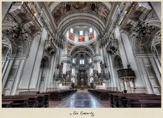 Inside the Salzburg Cathedral - Salzburg, Austria - Photo © Ken Kaminesky | #Photography #Architecture #HDR |