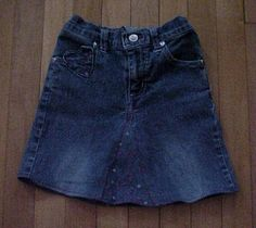 Turn jeans/pants into a skirt