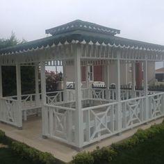 KAMELYA 15 Garden Gazebo, Pergola, Construction, Backyard, Outdoor Structures, Flooring, Daddy, House, Plants