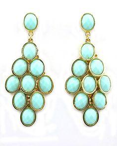 Dottie Couture Boutique - Jeweled Chandelier Earrings- Peach ...