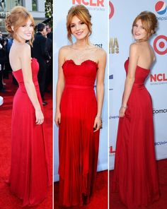 Bella Thorne 2012 Red Gown By Bibhu Mohapatra