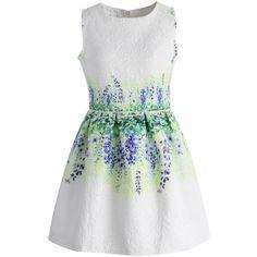 Chicwish Lavender Reflection Jacquard Dress (320 HRK) found on Polyvore featuring dresses, vestidos, white, light purple dress, back zipper dress, white jacquard dress, lavender dress and jacquard dress