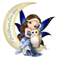 The Hamilton Collection Jasmine Becket Griffith Fairy and Owl Moon Figurine Fairy Pictures, Cute Pictures, Elfen Tattoo, Owl Moon, Snow Fairy, Kobold, Owl Always Love You, Fairy Figurines, Baby Fairy