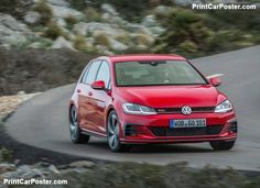 Volkswagen Golf GTI Performance 2017 poster, #poster, #mousepad, #tshirt, #printcarposter