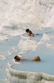 Relaxing in Thermal Pools  Pamukkale, Turkey