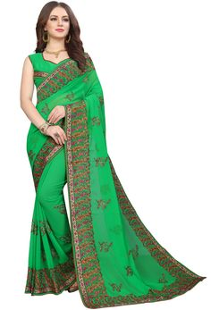 Online and immerse yourself in the finest variety of the attire. has thousand of in green green can be used in and etc. Nikvik is the of green color in Pakistani Party Wear Dresses, Party Wear Sarees, Georgette Sarees, Georgette Fabric, New Saree Designs, Green Saree, Sari Fabric, Other Outfits, Indian Ethnic Wear
