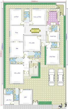 تصميم فلل دورين مخطط فيلات دورين منفصلة خرائط هندسية فلل التصاميم الهندسية الفلل Square House Plans Family House Plans New House Plans