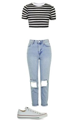 """""""Untitled #200"""" by wherethewldthngsr ❤ liked on Polyvore featuring Topshop and Converse"""
