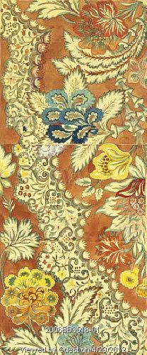 Design for woven silk, by Anna Maria Garthwaite (1690-1763). Watercolour on paper. Spitalfields, London, England, c.1731-32.