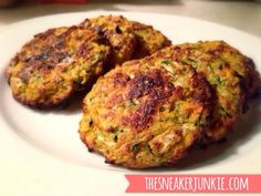 Healthy side dish! Zucchini Sweet Potato Patties!