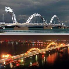 Dragon Bridge... day or night it is beautiful Vietnam