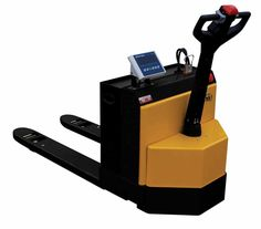 "Vestil EPT-2547-30-SCL Electric Pallet Truck with Scale, 3,000 lb. Capacity, 48"" Length x 25"" Width Forks"