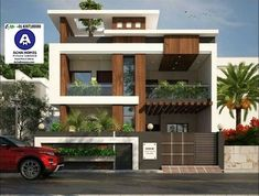 1600 square feet double floor modern home design with 3 bedrooms