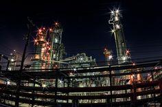 https://flic.kr/p/CNnUx3 | Stars - ☆星★ | 工場プラントにも星が輝いている事が判明しました。  CANON EOS 7D + TOKINA AT-X 107 DX Fisheye  #CoolJapan #kawasaki #technoscape