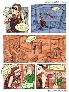 Page 2. of a Knitter comic.