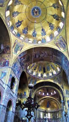 Inside St Mark's Cathedral, Venice, Italy