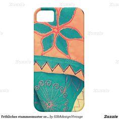 Fröhliches stammesmuster orange Türkis SIRAdesign Etui Fürs iPhone 5