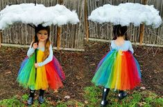 Tutu rainbow Halloween costume inspiration #rainbow #costume #raincloud #handmade #ideas #kids #halloween