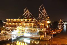 Highlights: One hour enjoy traditional puppetry art, 2 hours scenic cruise along the Sai Gon River in a traditional junk & Vietnamese Dinner.   At 7:00 pm we'll pick up at your hotel and go to Bach Dang wharf of relaxing dinner aboard a dazzingly decorated Riverboad. You'll cruise lazily down the Sai gon River – entertained by a live band playing traditional Vietnamese music – white Saigon's nighttime skyline floats quietly by to wharf the perfect mood for you affer dinner