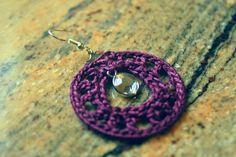 Crochet earrings Crochet Hoop earrings Everyday earrings
