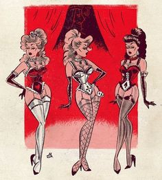 The 3 SchoolBOYS had been trained in posing dressing making-up doing their (now VERY) long girly hair and talking like girls for 6 weeks. In factthey all LOVED being forced into the matter of Feminity! Vintage Comics, Vintage Art, Dibujos Pin Up, Pin Up Cartoons, Character Art, Character Design, Pin Up Drawings, Drawn Art, Psy Art