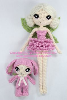 PATTERN 2-PACK: Chrysanna and Lilanna Fairy Crochet Amigurumi Dolls