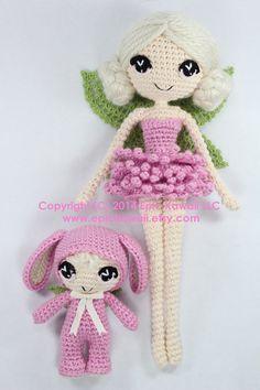 PATTERN 2-PACK: Chrysanna and Lilanna Fairy Crochet por epickawaii